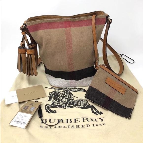 Burberry Handbags - Burberry Canvas   Leather Mini Ashby Crossbody 40d4c63460bc2